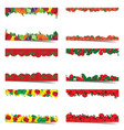 poster of food frame set vector image vector image