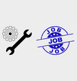 repair tools icon and distress job vector image vector image