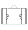 retro suitcase icon outline style vector image vector image