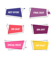sale tags sale banners template isolated vector image vector image