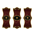set blackgold decorative frames vector image