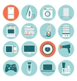 Set modern flat design icons of home appliances vector image