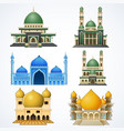 set of muslim mosque isolated on white background vector image vector image