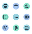 set of simple handing icons vector image