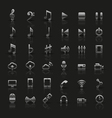 Set of universal silver icons vector image vector image