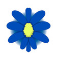 simple drawing of a blue flower graphics vector image
