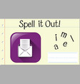 spell english word email vector image vector image