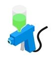 spray gun isometric 3d icon vector image