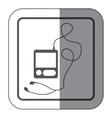 sticker monochrome square silhouette with tech vector image vector image