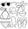 summer vacation design elements vector image vector image