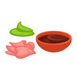 supplements to chinese and japanese food vector image