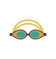 swimming glasses sport goggles icon vector image