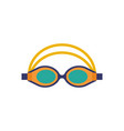 swimming glasses sport goggles icon vector image vector image