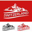 switzerland blazon white red and black color vector image vector image