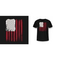 t-shirt graphic design with american flag vector image vector image