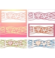 The word love in design background Set of 6 cards vector image vector image