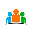 Three people team Concept of Group of People vector image vector image