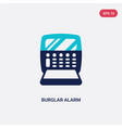 two color burglar alarm icon from electronic