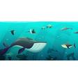 Underwater Marine Ocean Life Abstract Banner vector image vector image