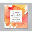 Wedding invitation card with watercolor