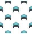 winter hat pattern flat vector image vector image