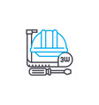work tools thin line stroke icon work vector image