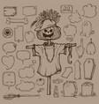 set of halloween speech bubbles vector image