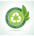 Eco-friendly recycle icon design vector image