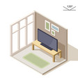 isometric design of a living room tv on the vector image