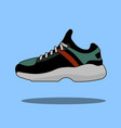 sneakers icon in flat style isolated on blue vector image