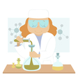Young scientist vector image