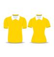 yellow polo shirt outline vector image