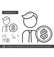 Accountant line icon vector image vector image
