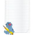 Bear cub a notebook cartoon vector image vector image