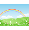 beautiful summer landscape wit vector image vector image