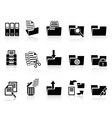 Black folder icons set vector | Price: 1 Credit (USD $1)