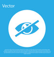 blue invisible or hide icon isolated on blue vector image vector image