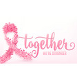 breast cancer ribbon vector image vector image