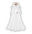 bride dress icon image vector image vector image