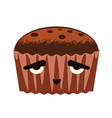 brownie cake design vector image vector image