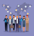 business people coworking vector image