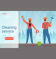 Cleaning service modern landing page