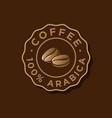 coffee logo arabica emblem gold beans shop cafe