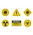 coronavirus outbreak corona virus warning and vector image vector image