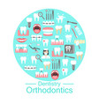 dentistry and orthodontics banner vector image vector image