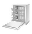 dishwasher machine icon realistic style vector image