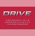 drive display font design alphabet typeface vector image