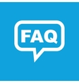 FAQ message icon vector image