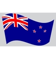 Flag of New Zealand waving on gray background vector image