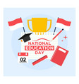 flat design indonesian national education day vector image vector image